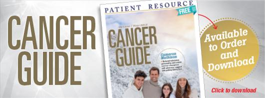 Patient Resource Cancer Guide, Winter 2020 Edition